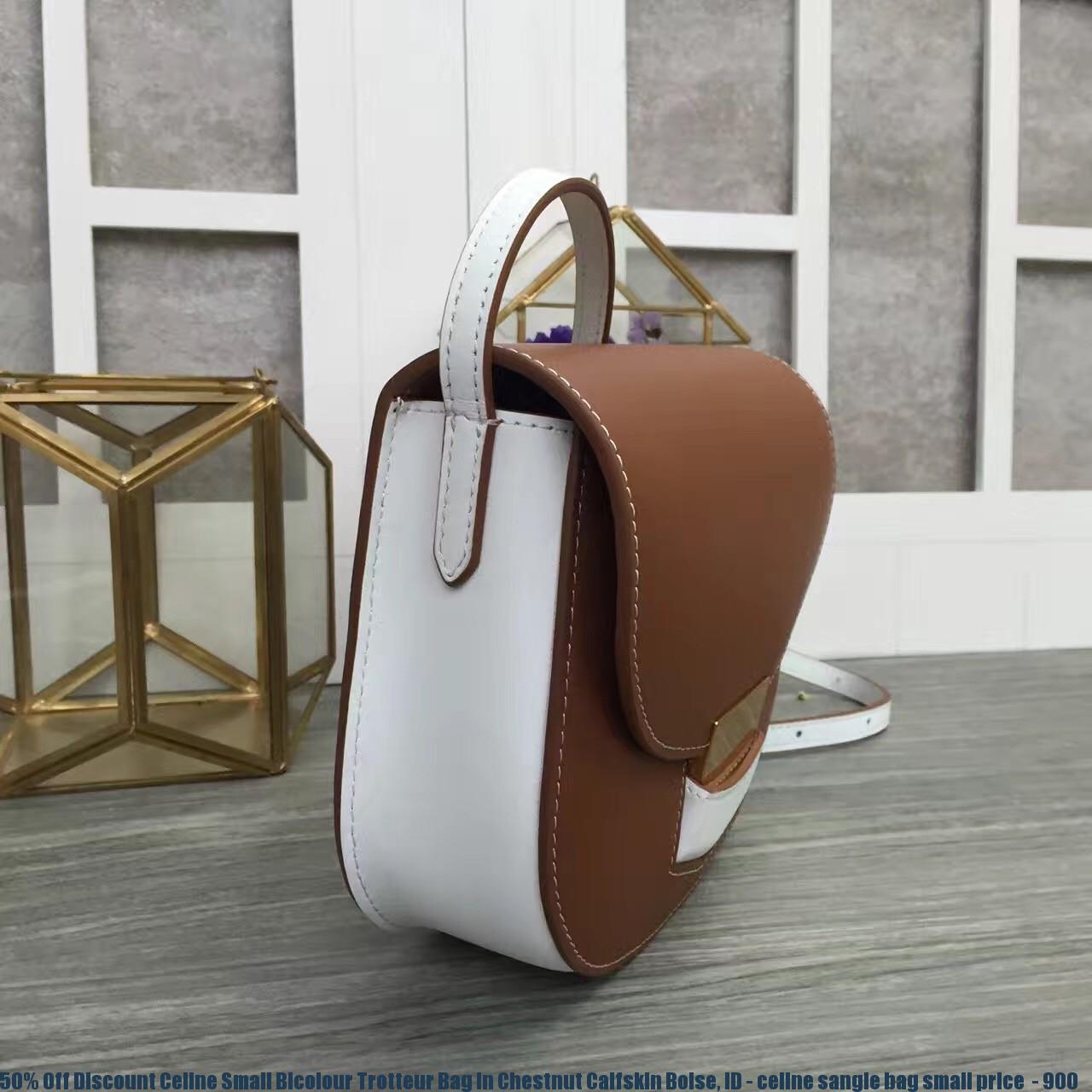 cee3045654 50% Off Discount Celine Small Bicolour Trotteur Bag In Chestnut ...
