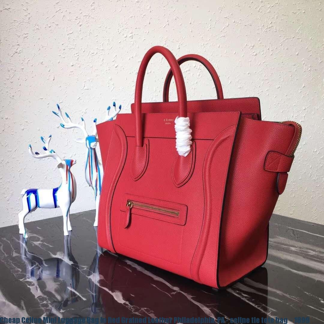 62d2dcdaaa5 Cheap Celine Mini Luggage Bag In Red Grained Leather Philadelphia, PA -  celine tie tote bag - 1899