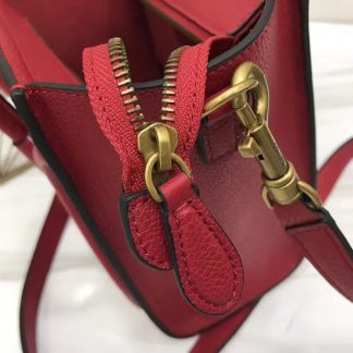 19148cc779ba You re viewing  Fake Celine Nano Luggage Bag In Red Grained Leather New  Orleans