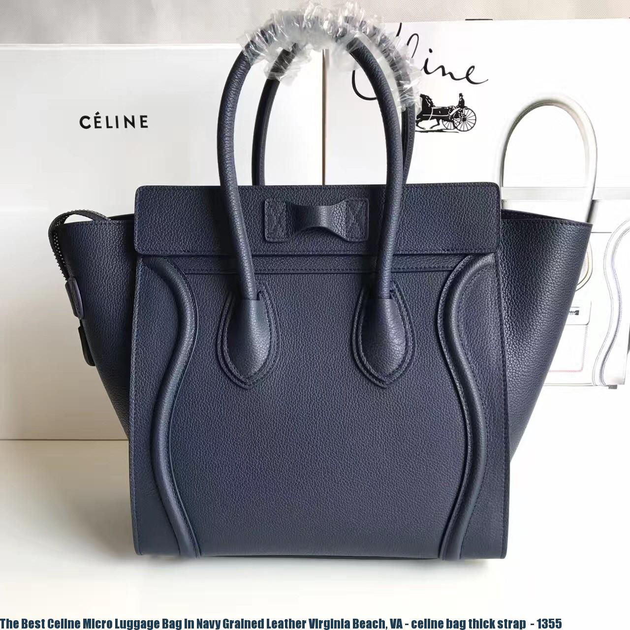 9276a2e0e207 The Best Celine Micro Luggage Bag In Navy Grained Leather Virginia ...